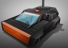 O design de consoles clássicos como carros
