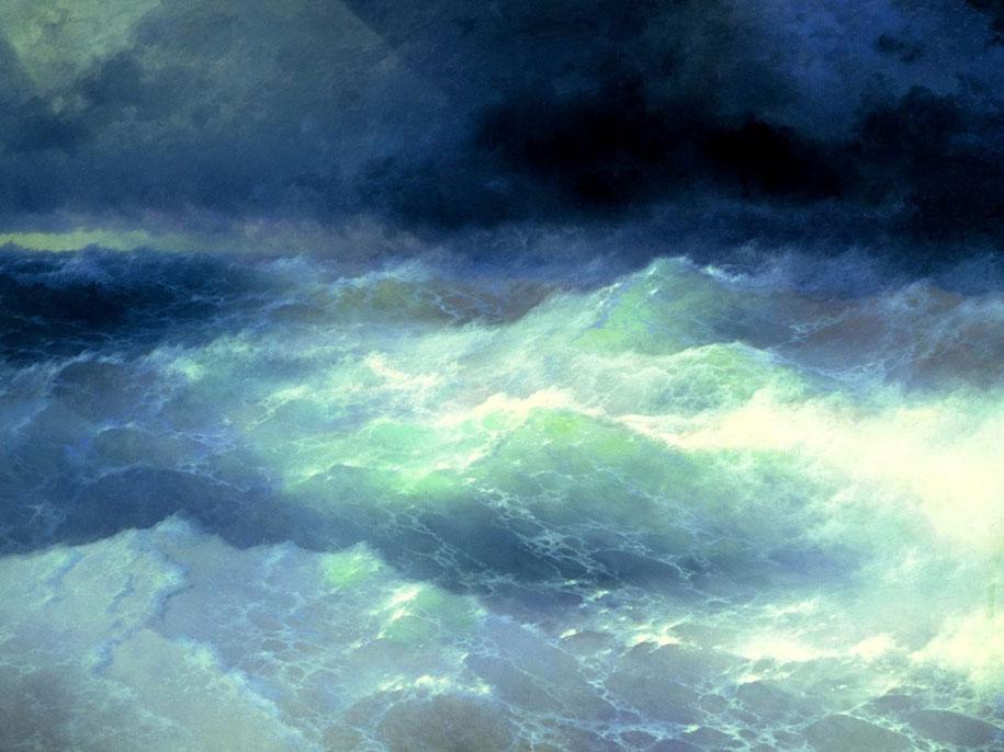 As hipnotizantes pinturas de ondas translúcidas de Ivan Aivazovsky