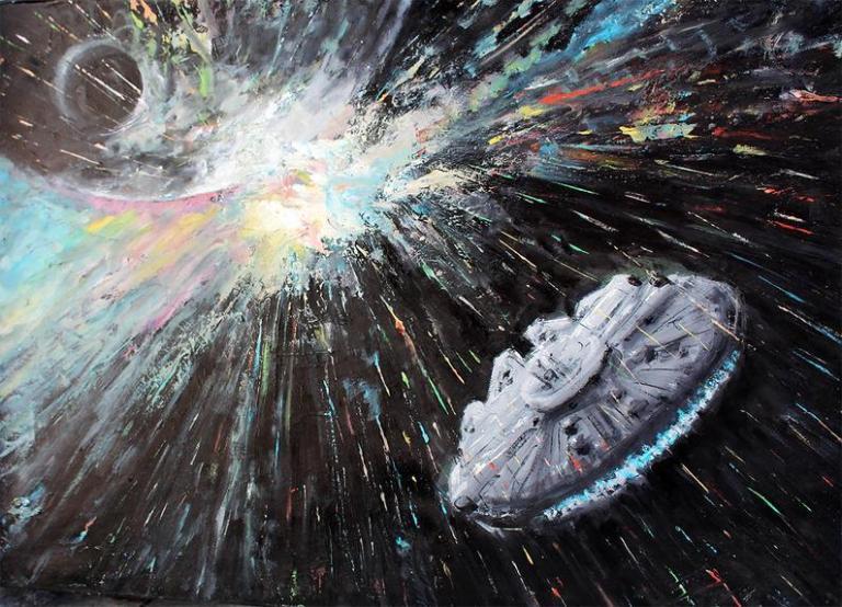 Pinturas a óleo do Star Wars