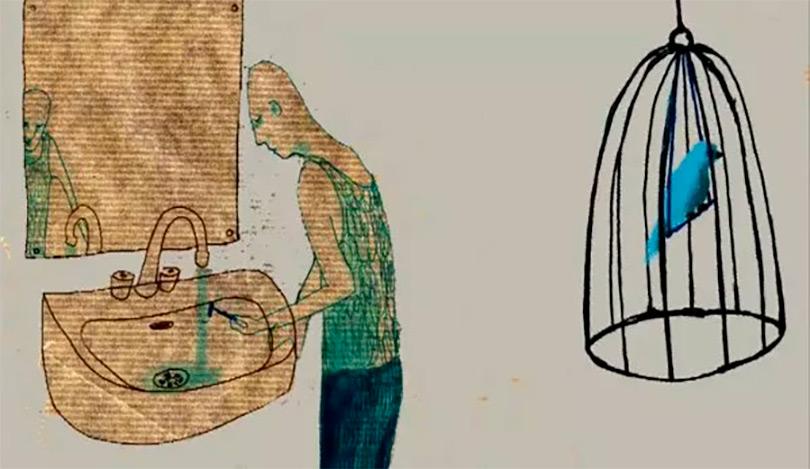 O Pássaro Azul: poema de Bukowski em animação