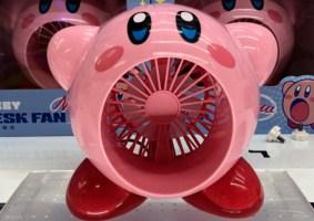 Um ventilador do Kirby para refrescar nos dias de calor