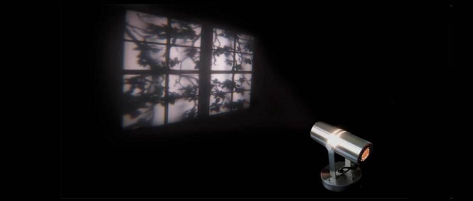 A lâmpada que projeta uma janela imaginária