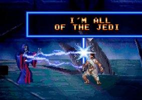 A batalha de Rey e Palpatine em 16 bits