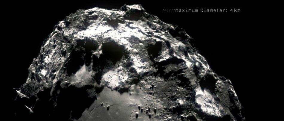 Este curta foi feito com 400 mil fotos do cometa 67p