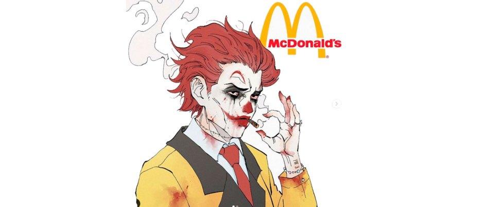Artista recria mascotes de fast food como vilões estilo anime