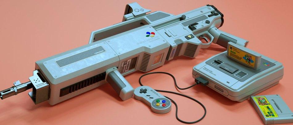 Um conceito de Super Famicom Gun de Alan Williams