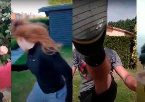 Alunos dublês lutam entre si em quarentena em vídeo