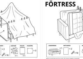 Como construir cabanas em casa: Instruções da IKEA