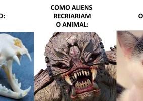 Como aliens recriariam animais com base em suas caveiras