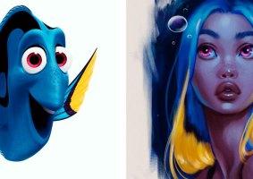 Animais da Disney como mulheres