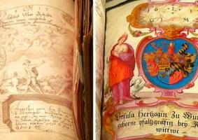 O Livro da Amizade feito com centenas de assinaturas de figuras históricas