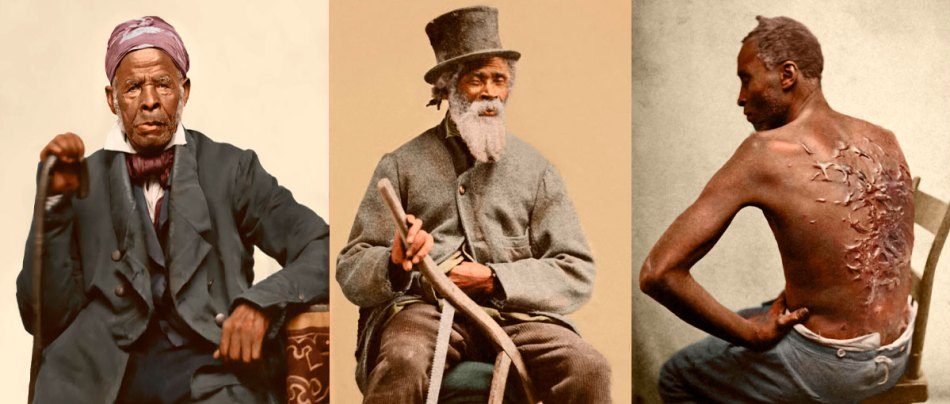 Fotos coloridas da escravidão e os seus horrores