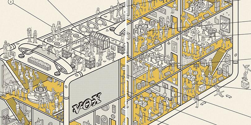 Ilustrações revelam o interior de objetos icônicos da história