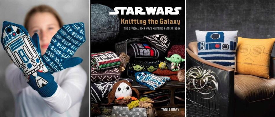 Um livro de tricô do Star Wars