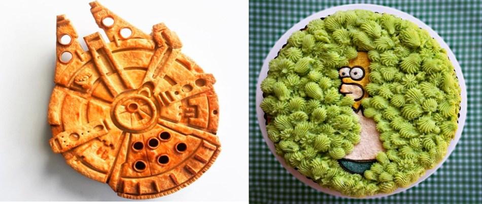 Artista cria tortas da cultura pop