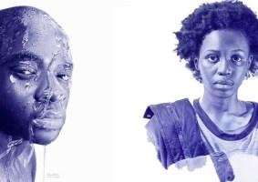 Artista nigeriano cria realismo com caneta esferográfica