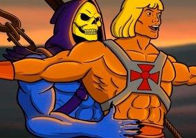 He-Man e Esqueleto em uma amizade colorida