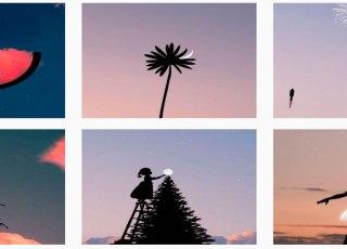 Belas fotos criadas com nuvens e silhuetas