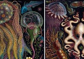 O complexo ecossistema marinho em pinturas
