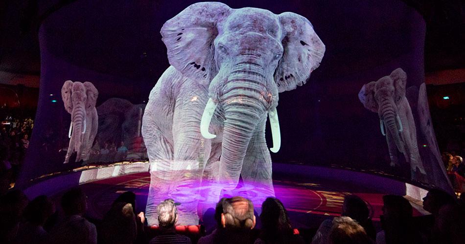 O circo que usa hologramas de animais em suas apresentações
