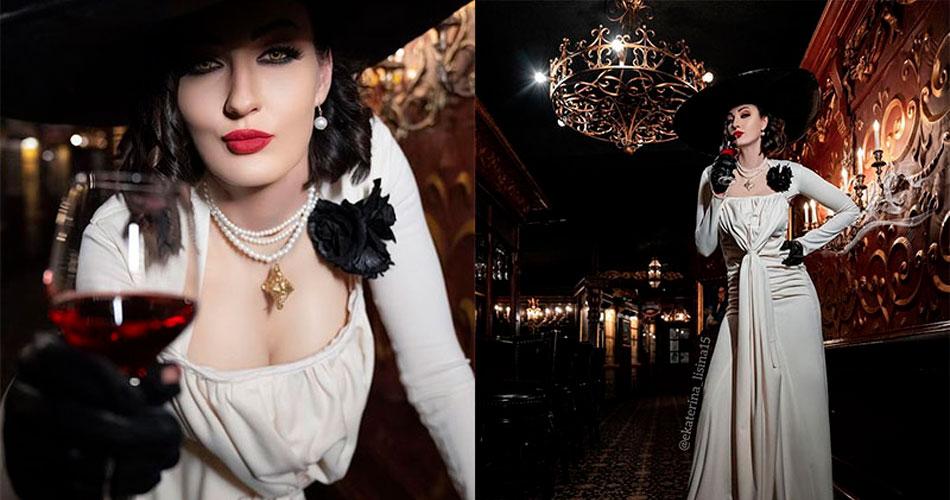 Modelo mais alta do mundo faz cosplay de Lady Dimitrescu, do Resident Evil