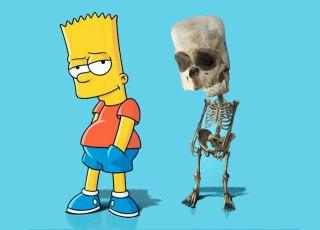 Os esqueletos de personagens da cultura pop