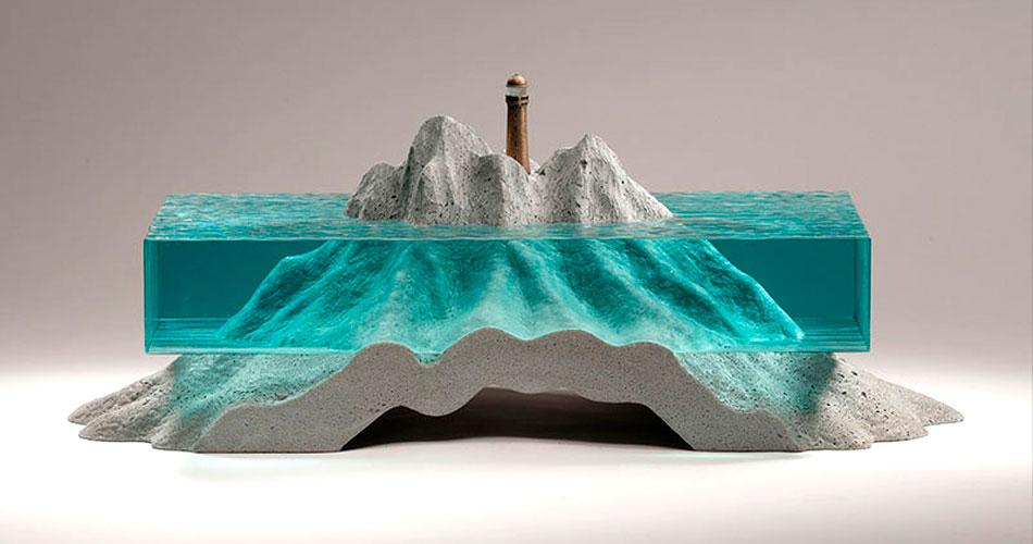 As artes de vidro e concreto de Ben Young