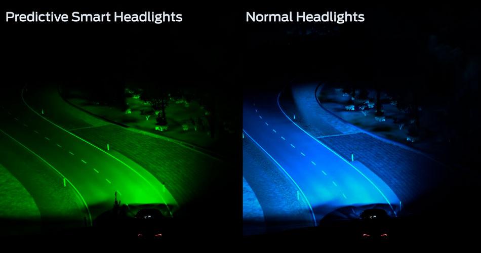 Ford apresenta faróis que preveem curvas e a iluminam