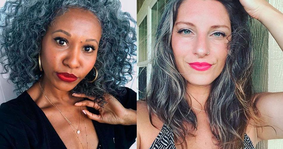 20 mulheres de cabelo branco que abandonaram a tinta e ficaram incríveis