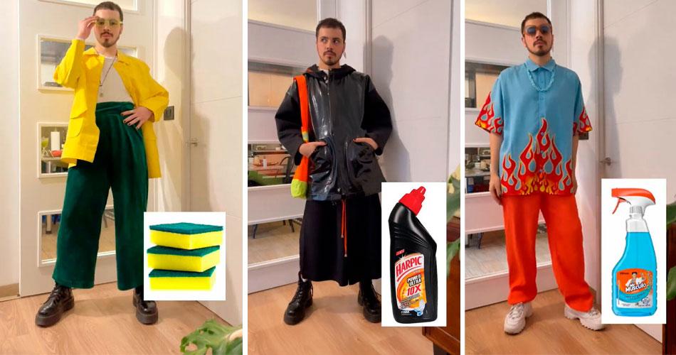 Designer cria roupas inspiradas em produtos, alimentos e drinks