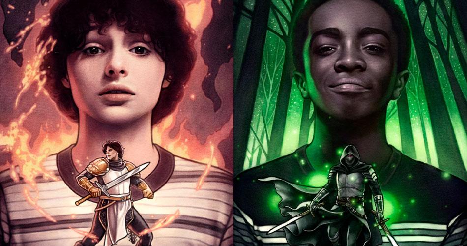 Stranger Things e Dungeons e Dragons se juntam em ilustrações