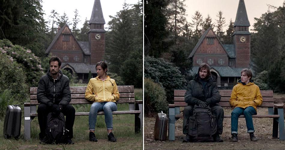 Casal recria cenas de filmes onde elas foram filmadas