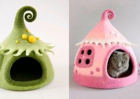 Artista cria casas de gato estilo conto de fadas