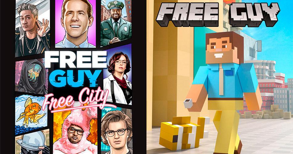 Pôsteres de Free Guy recriam capas de games famosos