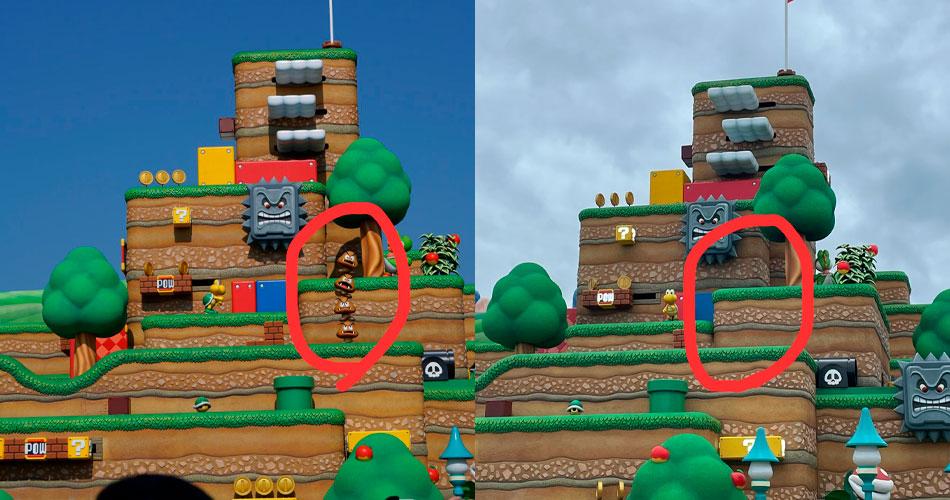 Torre de Goomba cai no Super Nintendo World e atrações fecham