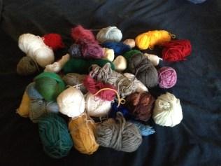 Waste yarn