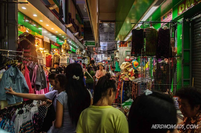 Inside Pratunam Market with all the vendor stalls
