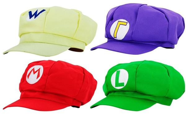 Gadget Super Mario Bros: set 4 cappellini