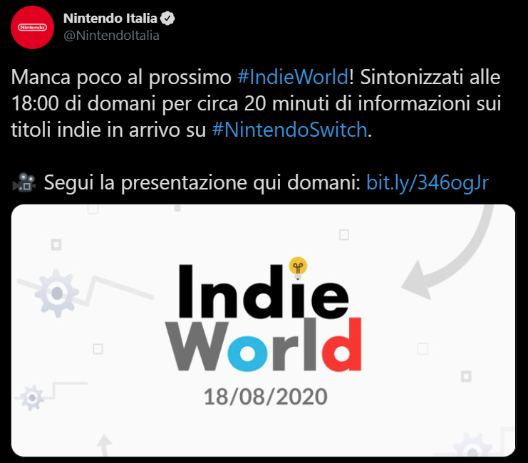 Nintendo Indie World Evento Giochi
