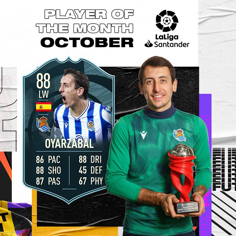 Mikel Oyarzabal POTM Player of the month La Liga - FIFA 21 Ultimate Team FUT
