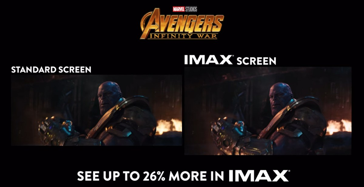 """Image result for IMAX' 1.9:1 aspect ratio works better for bigger characters of """"Infinity War"""" gif"""