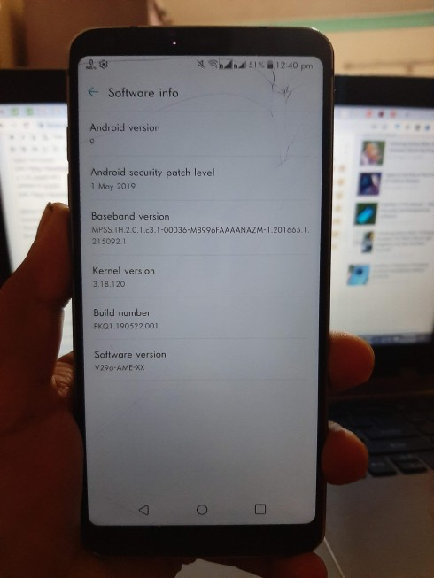 LG G6 second Android Pie beta