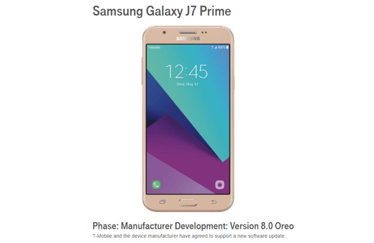 Galaxy j7 prime Oreo