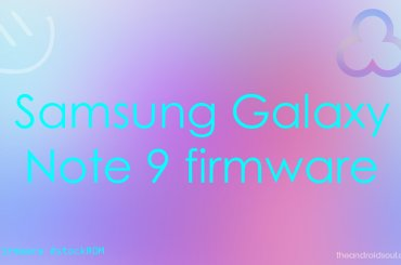 Galaxy Note 9 firmware download