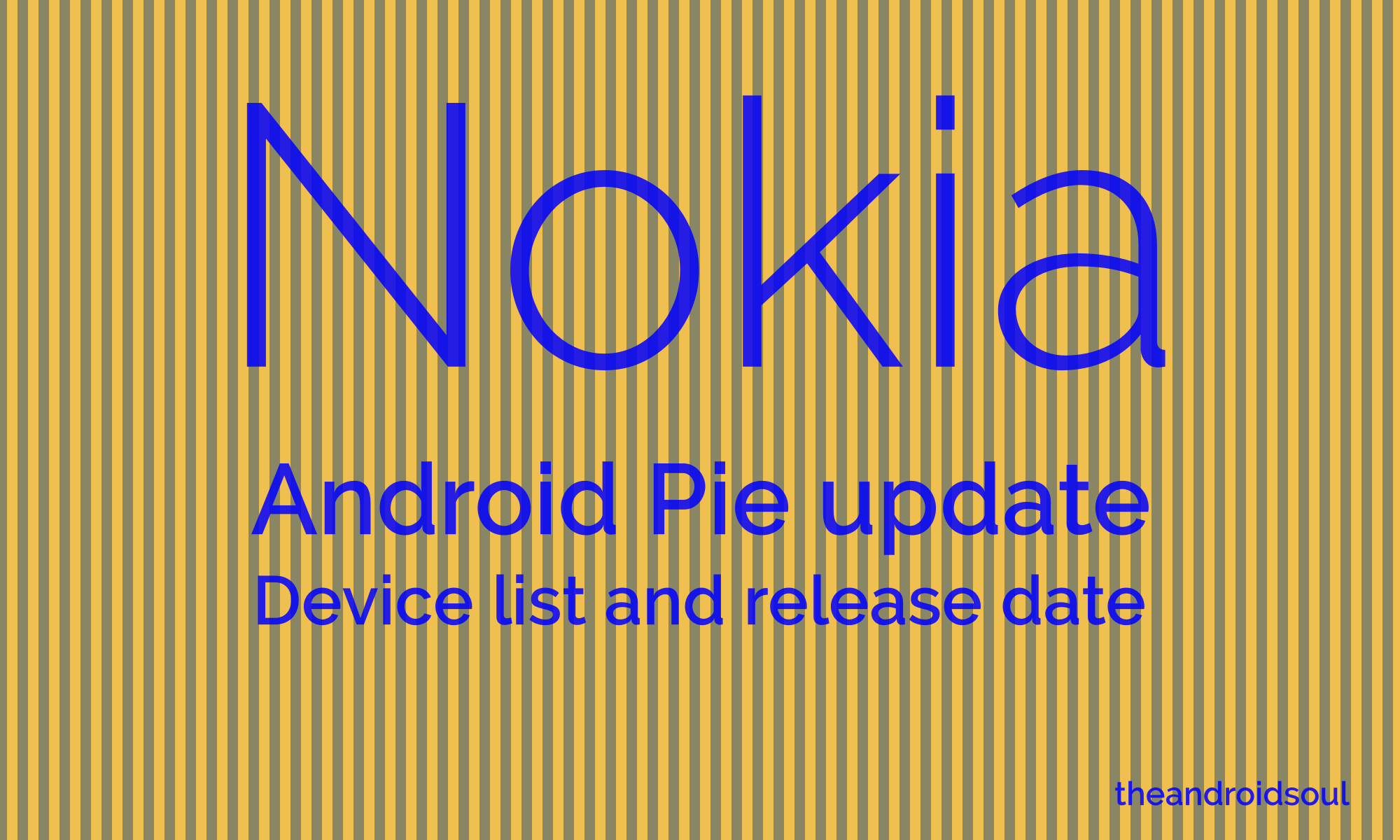 Nokia Android Pie update release