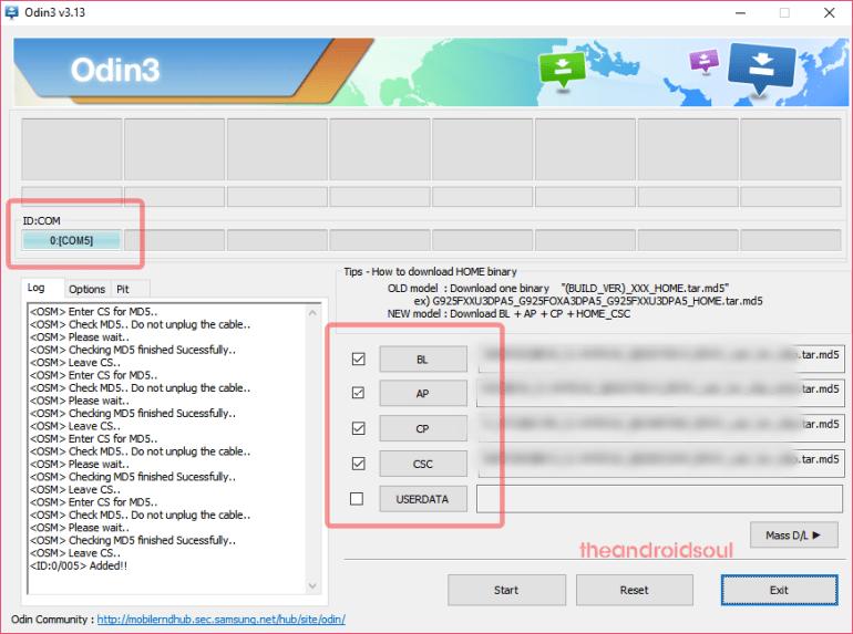 odin load files