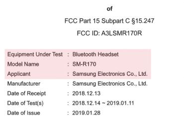 Galaxy Buds FCC leak