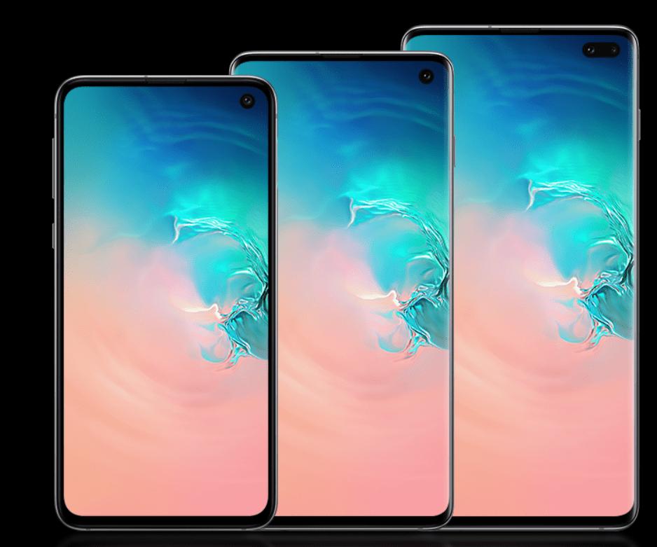 Samsung Galaxy S10e, S10, and S10 Plus