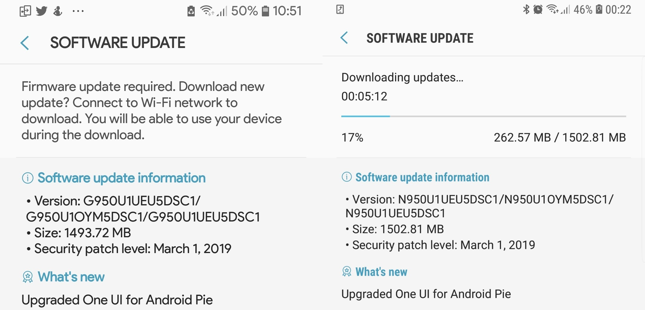U.S. unlocked S8 and Note 8 Android Pie update