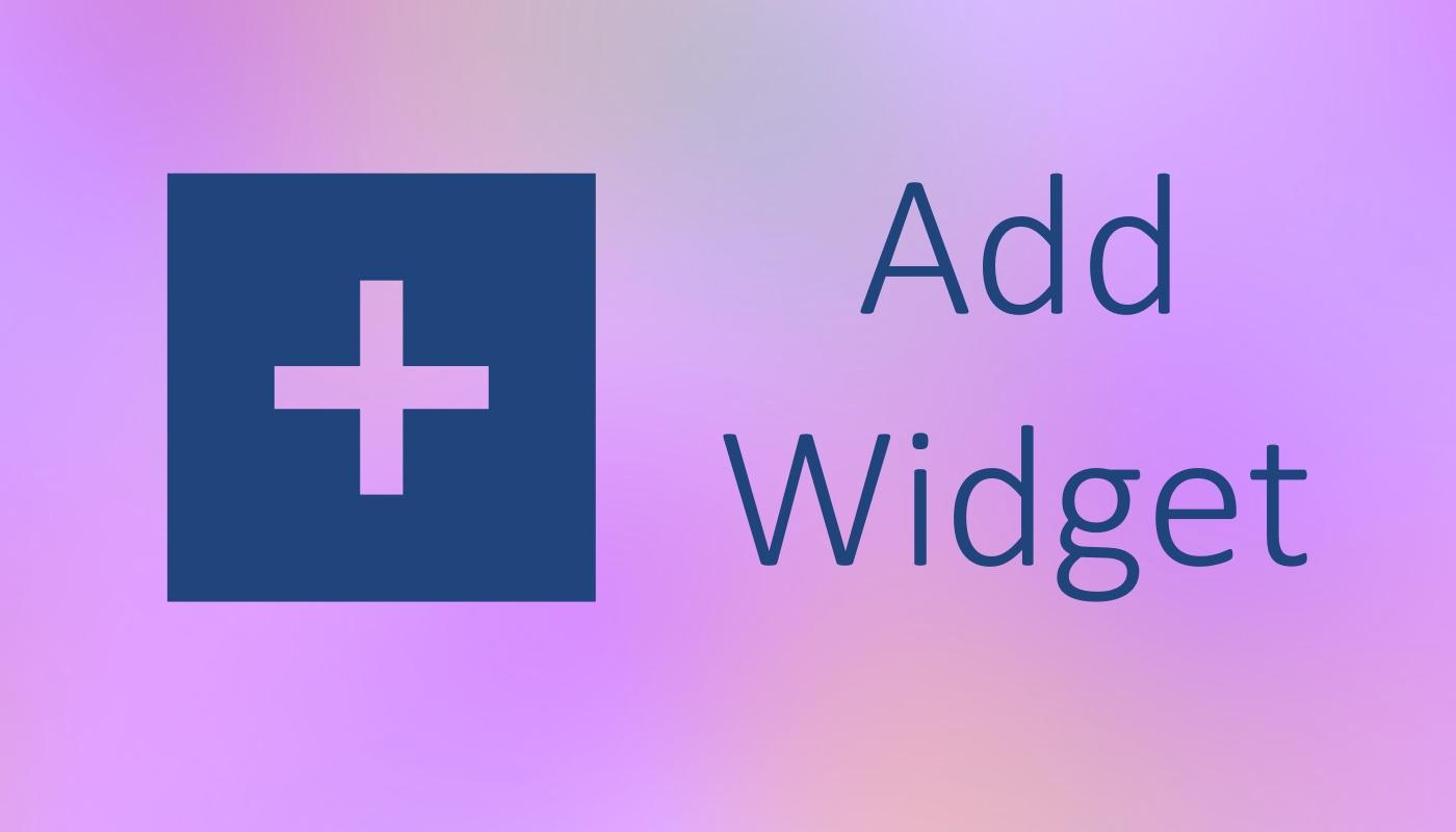 Add widget on Android